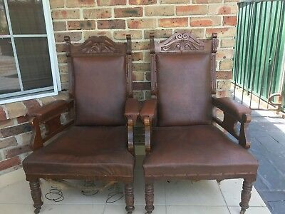 antique arm chairs made in the 1800 need to go to a new home