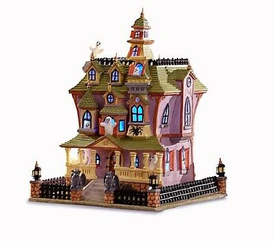 Lenox Spooky Manor Lighted Halloween House Figurine NEW IN BOX