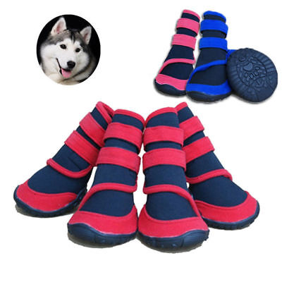 Winter Pet Dog Boots Waterproof Puppy Shoes Anti-Slip Protective Snow Booties