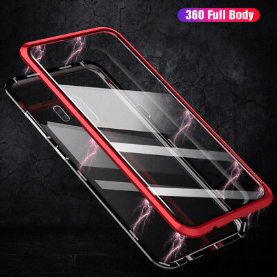 Front Back Double Side Glass Metal Magnetic Case Samsung Galaxy S9 S8 plus Note9