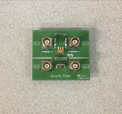 Omicron Lab IF Filter Quartz filter Bodefilt-1 Test Board