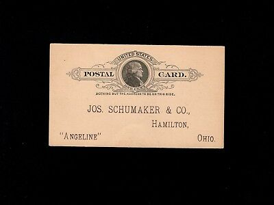 USA 1c Jefferson UNUSED Postal Card Preprint Quack Medicine J Schumaker OH 2j