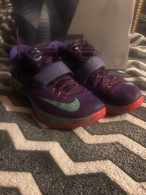 "best cheap e1ecd 0c2c2 Mens Nike KD 7 Purple Lightning ""Lightning 534"" Size 11, Pre-owned"