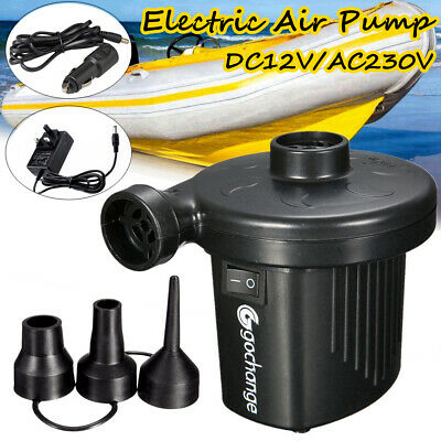 Electric Air Pump Inflator for Inflatables Camping Bed Pool Car Home UK Plug