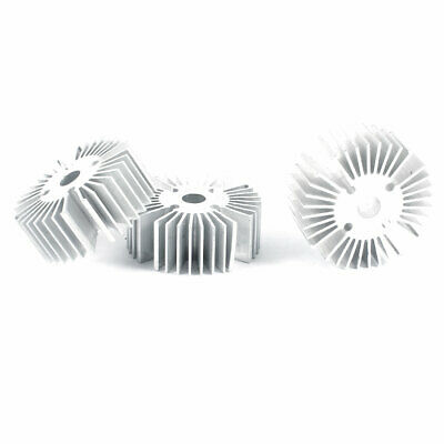 3 Pcs Round Shaped 39mm OD 6.5mm ID 15mm Height LED Light Heat Sinks Cooling Fin