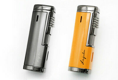 COHIBA Fashion Metal Windproof 4 Torch Jet Flame Cigar Lighter W/Cigar Punch