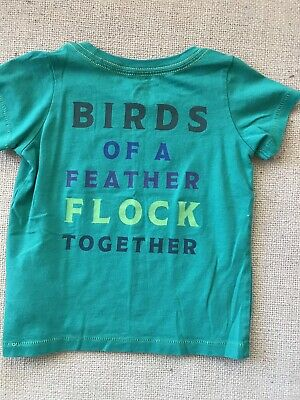 Peek little peanut Kids Family Birds Of A Feather front back Shirt 12/18 months