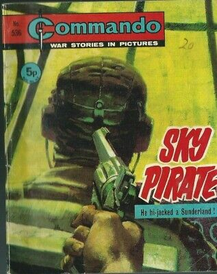 Sky Pirate,commando War Stories In Pictures,no.536,war Comic,1971