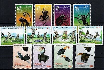 P105622/ Papouasie / Papua New Guinea / Y&t # 1641 / 1652 Neufs ** / Mnh 116 €