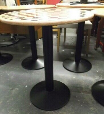 Set Of 19 Ex Coffee Shop Wooden Bistro Tables (2 Different Designs)   - T23