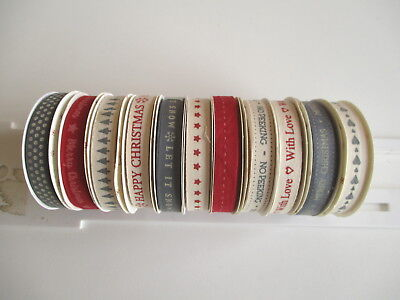 1 reel Dovecraft Christmas Traditional simple Grosgrain Ribbon -choice of design
