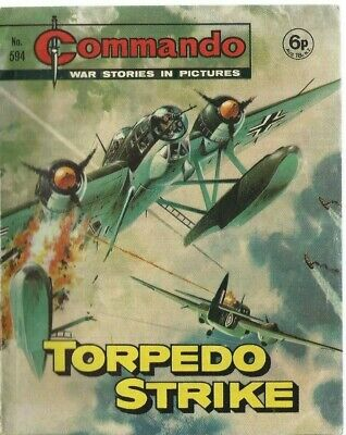 Torpedo Strike,commando War Stories In Pictures,no.594,war Comic,1971