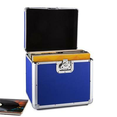 VALISE DE TRANSPORT 70x DISQUE VINYL RESIDENT DJ ALU REMBOURRÉ FLIGHT CASE BLEU