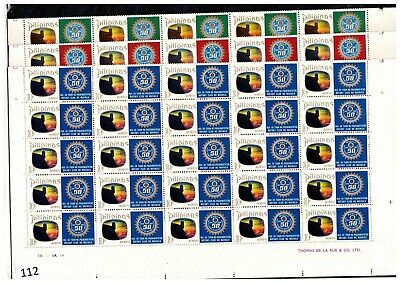 ++ 50X Philippines 1969 - Mnh - Rotary - Sheets Bent