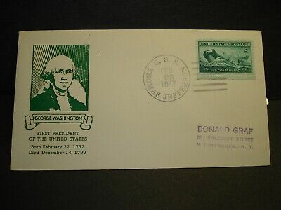 USS THOMAS JEFFERSON APA-30 Naval Cover 1947 GRAF GEORGE WASHINGTON Cachet