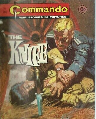 The Knife,commando War Stories In Pictures,no.609,war Comic,1971