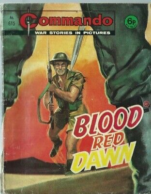 Blood Red Dawn,commando War Stories In Pictures,no.615,war Comic,1972