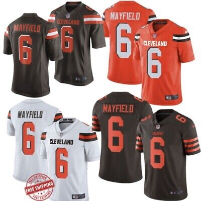cc7c126259a Baker Mayfield  6 Cleveland Browns Men s Jersey Authentic stitched 4 Color S -3XL
