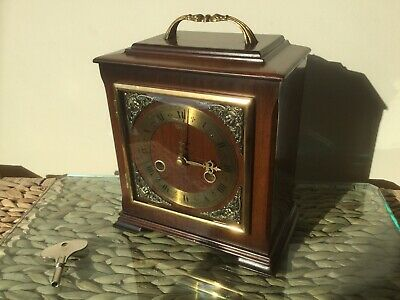 Smiths Enfield 'Boswell' Striking Bracket/Mantel Clock. Fully Serviced With Key