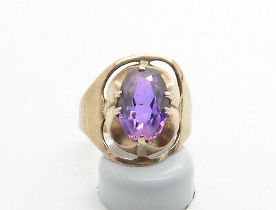 Antiquarian 875 Silver Rings with alexandrite gemstone. 20 Century