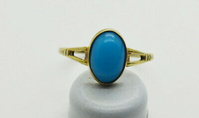Antiquarian 875 Silver Ring with Turquoise gemstone. 20 Century