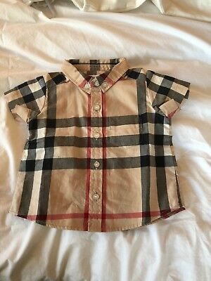 Baby Boy Classic Burberry Check Shirt Size 3 Months