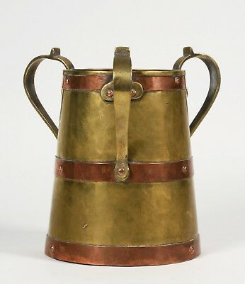 Russian Arts and Crafts Handwrought Copper Brass & Bronze Vase/ Czarist Era 1910