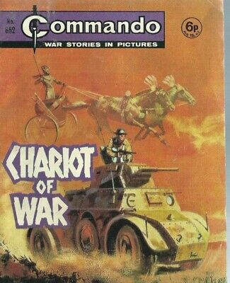 Chariot Of War,commando War Stories In Pictures,no.652,war Comic,1972