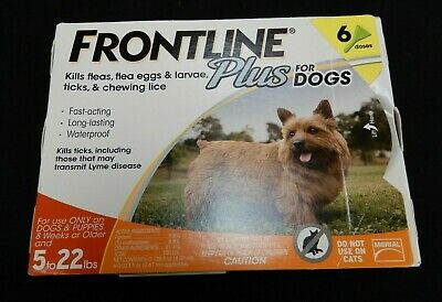 Frontline Plus for Dogs 6 Doses for Dogs 5 to 22 lbs. Kills Fleas & Ticks