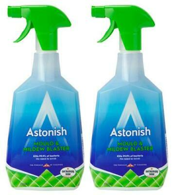 Pack of 2 Astonish Kill Black Mould & Mildew Blaster Remover Trigger Spray 750ml