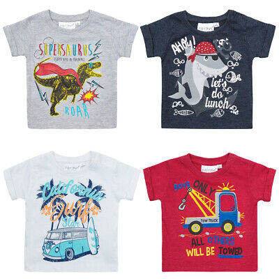 Baby Boys T shirt Tops Short Sleeved 100% Cotton  0-3 Month up to 12-18 months
