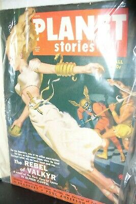 Planet Stories Fall 1950 Us Pulp Magazine