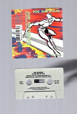 Joe Satriani Surfing with the Alien 1987  Audio Cassette Tape-Relativity Label
