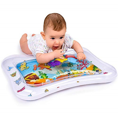 Adorable Tummy Time Floor Mat for Infants | Colorful & Fun Inflatable Baby Water