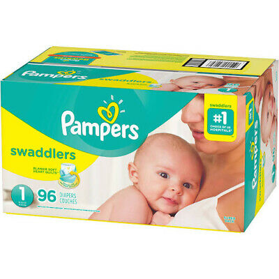Pampers Swaddlers Diapers, Size 1 - 96 count