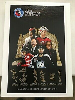 Signed Martin Brodeur Martin St Louis O Ree More Hockey Hall Of