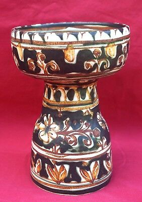 KERALUC QUIMPER P YVAIN Candlestick French Hand Painted Ceramic A