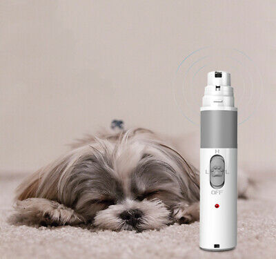 Dog Nail Grinder Pets Electric Rechargeable Nail Trimmer Clipper for Dogs Cat US