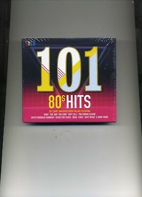 101 80S Hits - Human League Soft Cell Abba Level 42 Diana Ross - 5 Cds - New!!