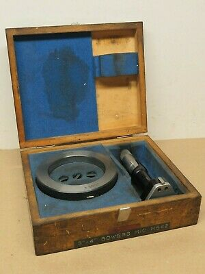 """Bowers 3"""" - 4"""" Internal Bore Micrometer Complete In Box VGC ME1979"""