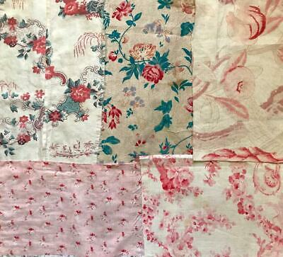 5 PIECES 19th/20th CENTURY  FRENCH LINENS COTTONS 22. FREE WORLDWIDE POSTAGE