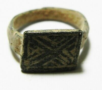 Zurqieh -As10956-  Holy Land. Byzantine Bronze  Ring. 700 A.d