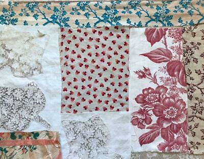 7 PIECES 19th CENTURY  FRENCH LINENS COTTONS 23. FREE WORLDWIDE POSTAGE