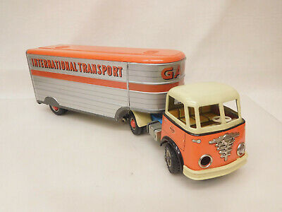 ESF-07390	Gama LKW International Transport, L. ca. 47,5 cm, Blech, Schwungrad