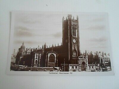 MANCHESTER, Cathedral P3 - Vintage RPPC Franked 1929 §E184
