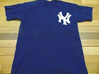 09813cd5483 Vintage Majestic Mlb New York Yankees Johnny Damon Jersey T-Shirt Size Youth  Xl