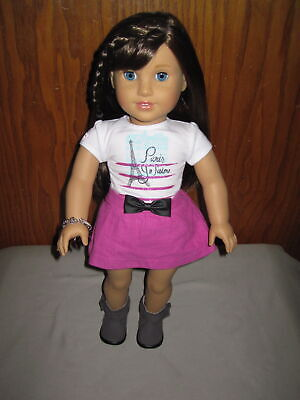 American Girl Doll Of The Year 2015 Grace! VGUC Top Skirt Panties Boots Bracelet