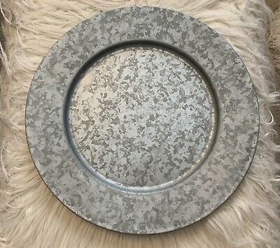 Galvanized Metal Charger Plate Wall Decor 12 00 Picclick