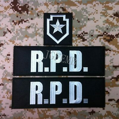 RPD Resident Evil Umbrella  R.P.D. Star  Big Back Of The Body Patch One set-3