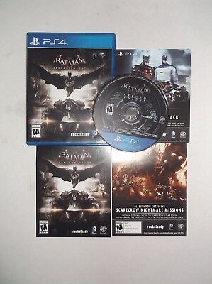 Batman: Arkham Knight (Sony PlayStation 4, PS4, 2015) COMPLETE w/ Manual